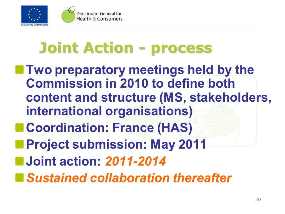 Joint Action - process