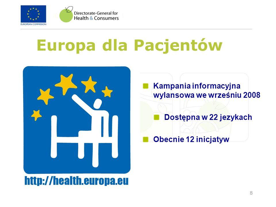 Europa dla Pacjentów Kampania informacyjna wylansowa we wrześniu 2008