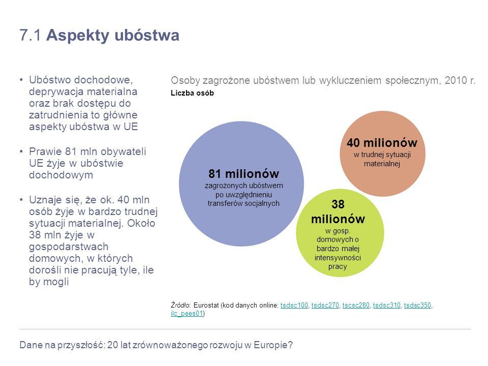 7.1 Aspekty ubóstwa 40 milionów 81 milionów 38 milionów
