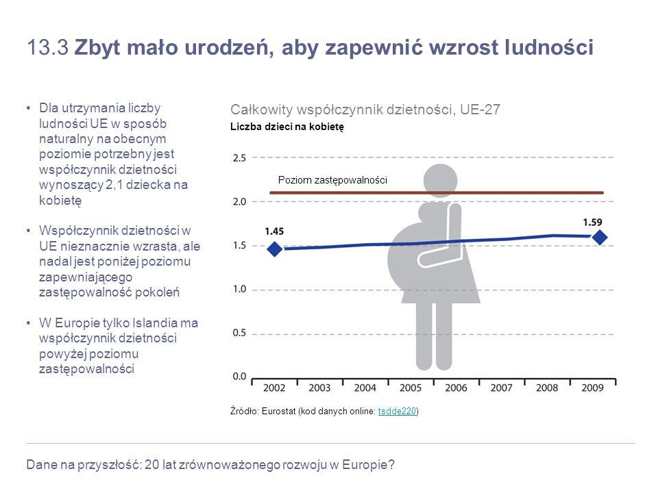 13.3 Zbyt mało urodzeń, aby zapewnić wzrost ludności