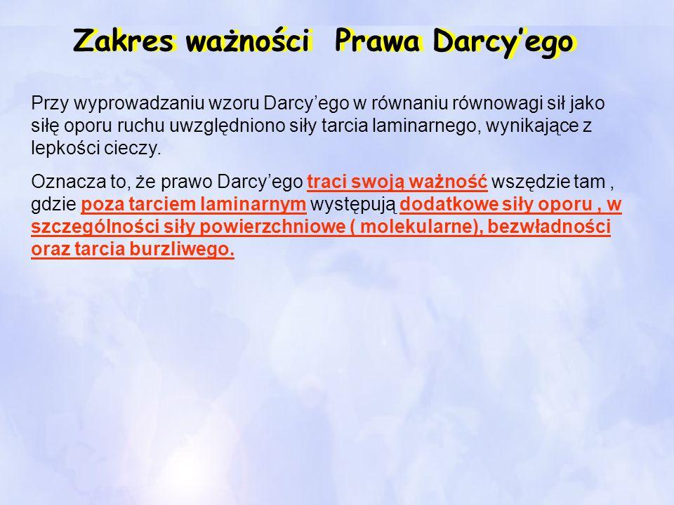 Zakres ważności Prawa Darcy'ego