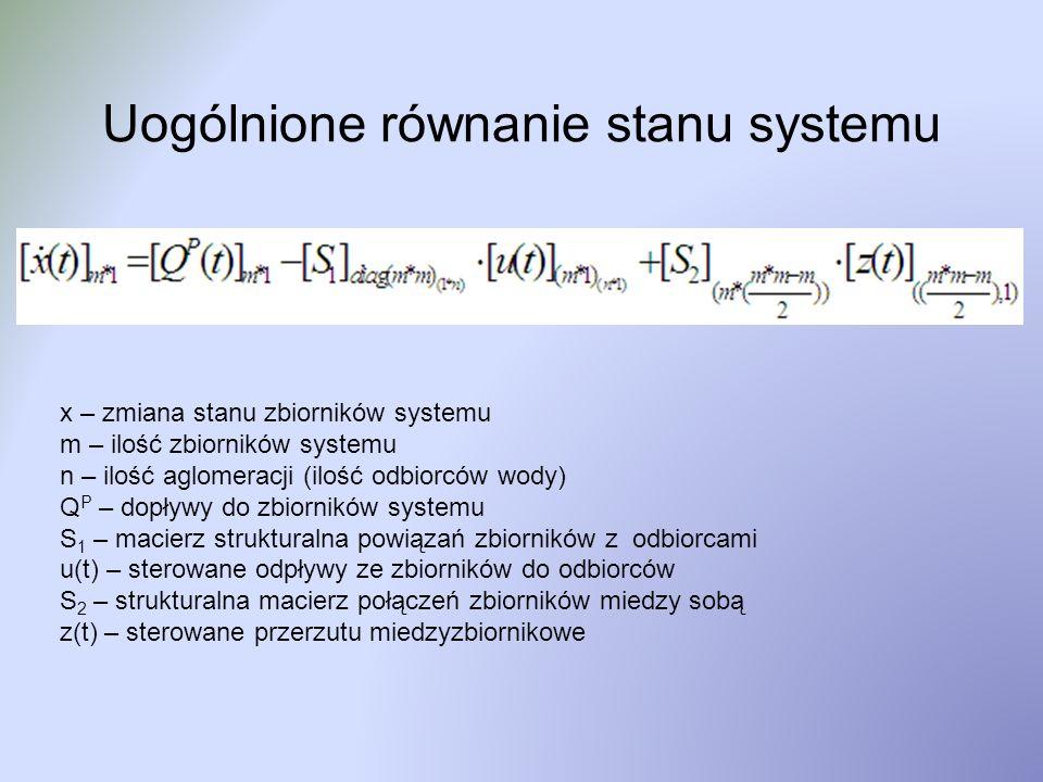 Uogólnione równanie stanu systemu
