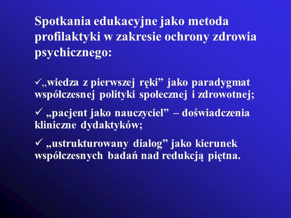 Spotkania edukacyjne jako metoda profilaktyki w zakresie ochrony zdrowia psychicznego: