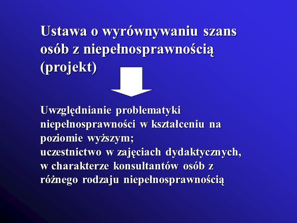 Ustawa o wyrównywaniu szans osób z niepełnosprawnością (projekt)