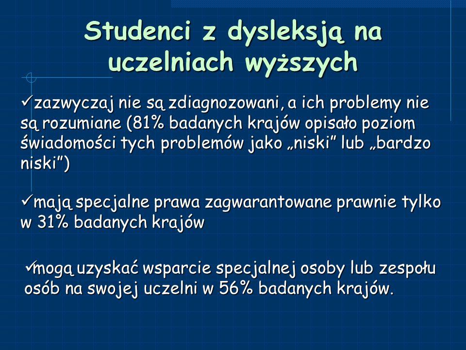 Studenci z dysleksją na uczelniach wyższych