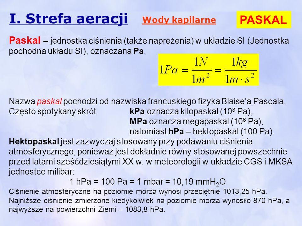 I. Strefa aeracji PASKAL