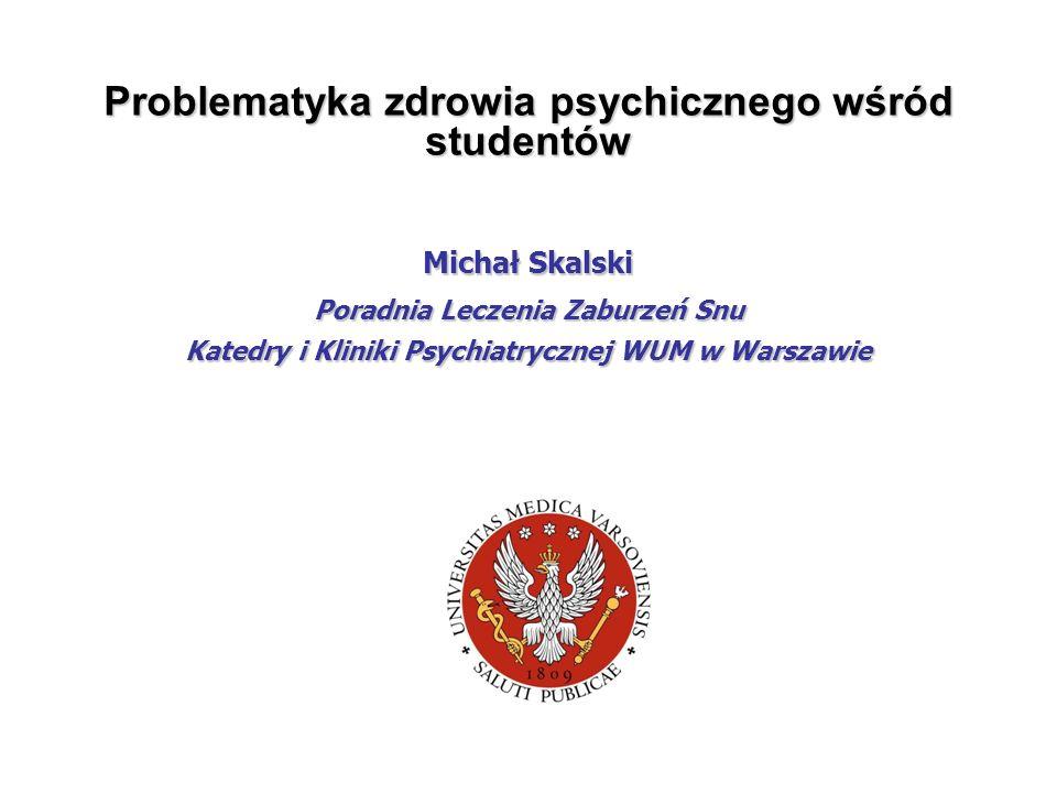 Problematyka zdrowia psychicznego wśród studentów