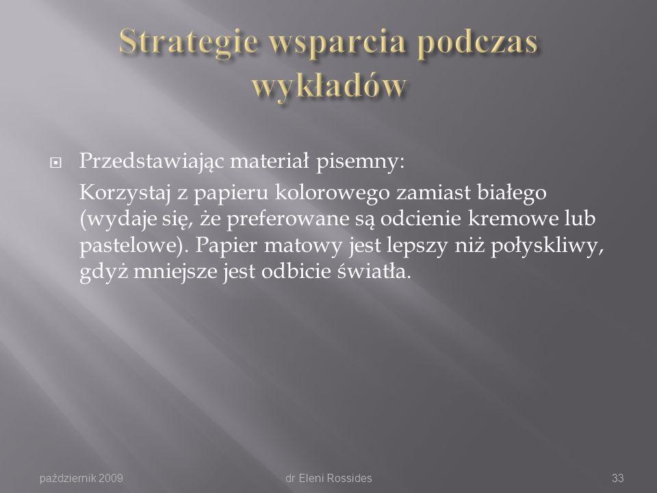 Strategie wsparcia podczas wykładów