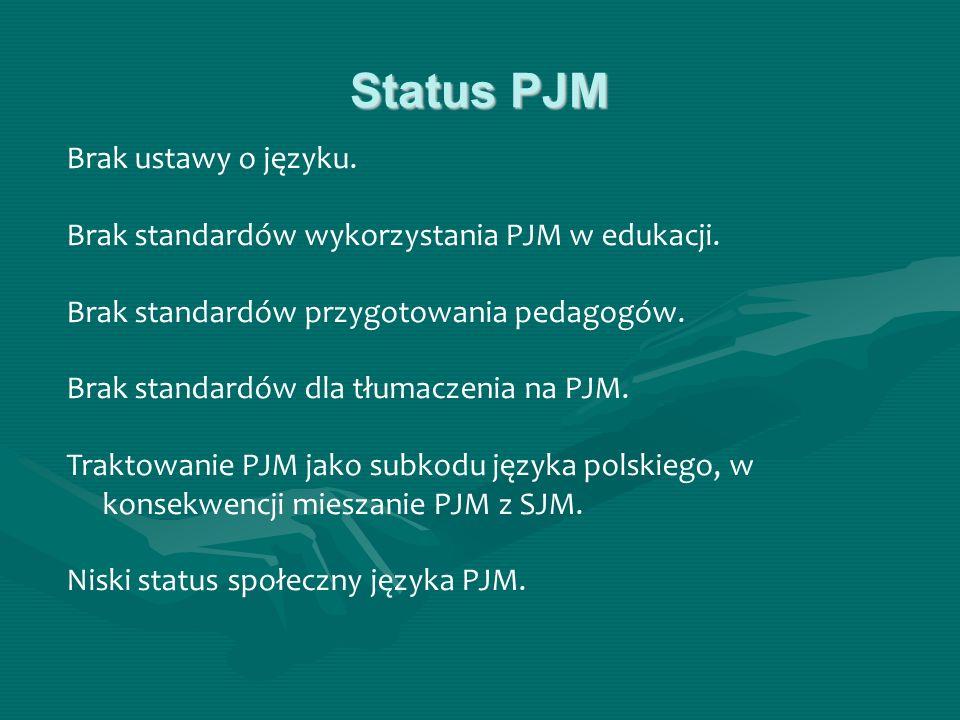 Status PJM Brak ustawy o języku.