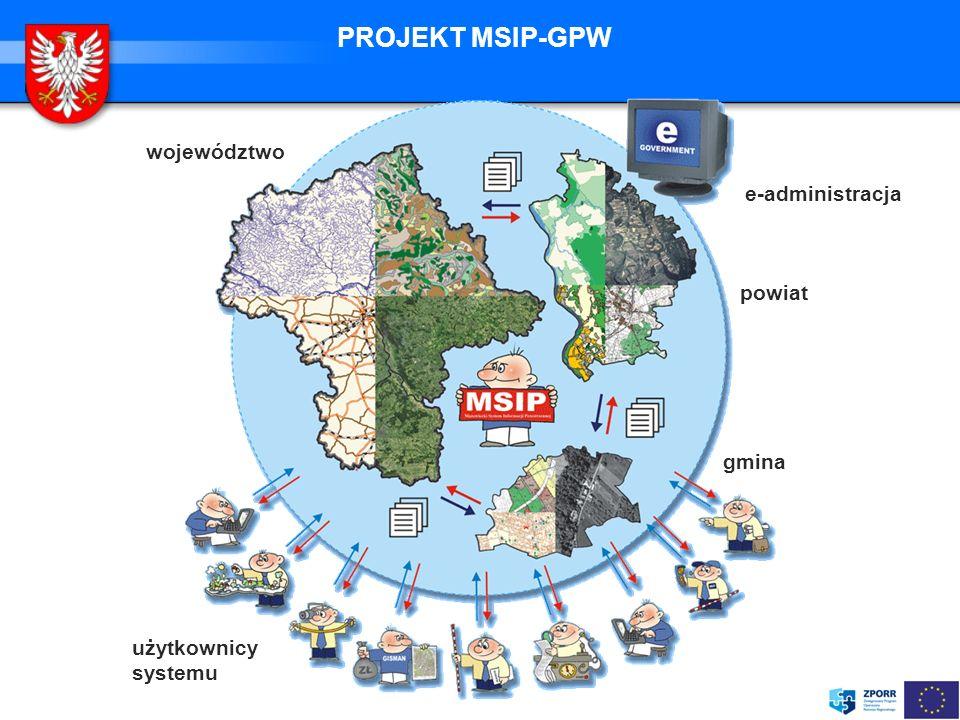 PROJEKT MSIP-GPW województwo e-administracja powiat gmina
