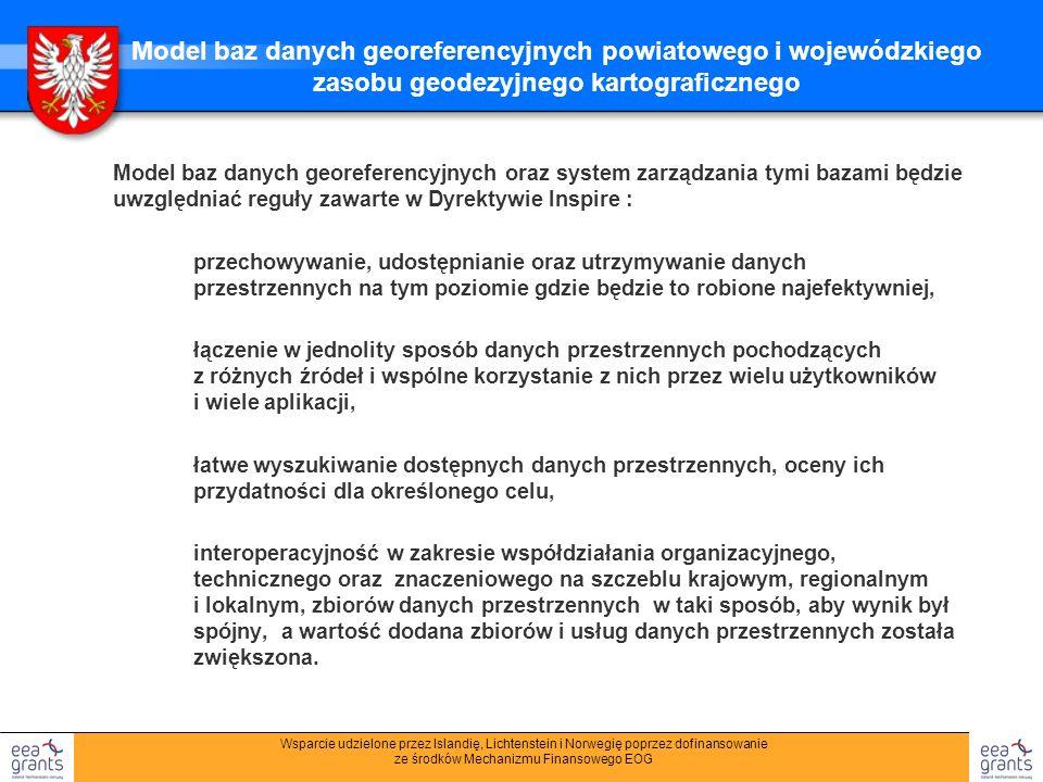 Model baz danych georeferencyjnych powiatowego i wojewódzkiego zasobu geodezyjnego kartograficznego