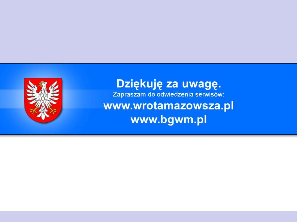 Dziękuję za uwagę. Zapraszam do odwiedzenia serwisów: www