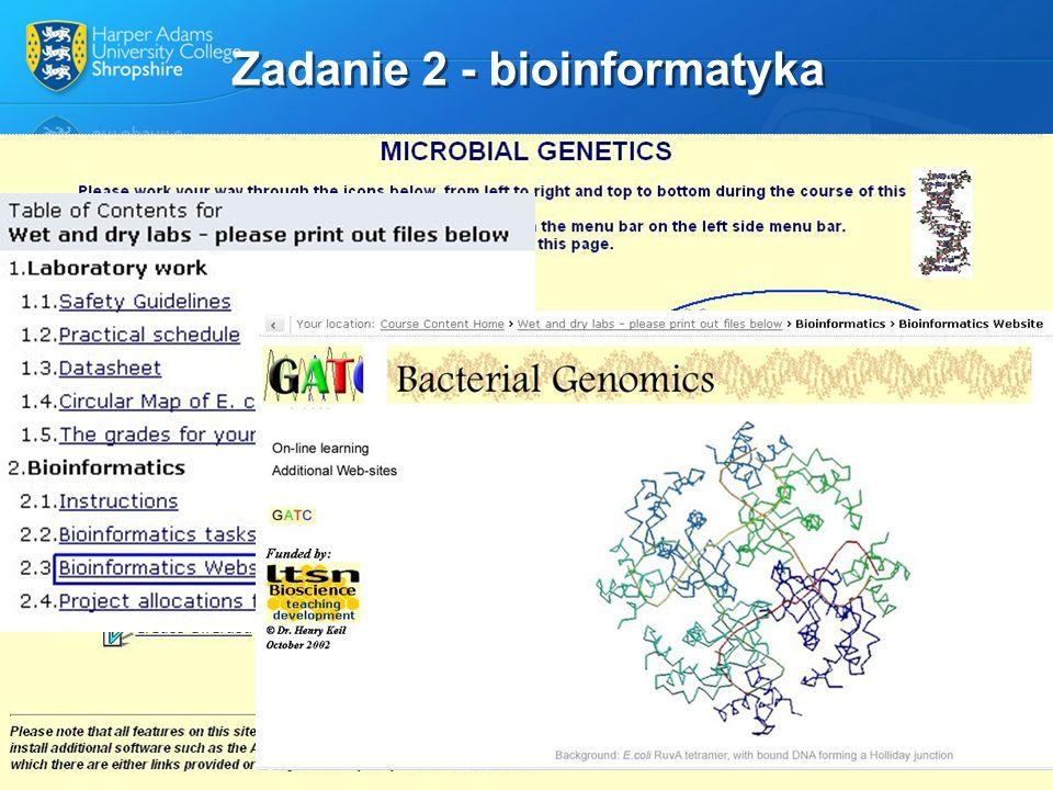 Zadanie 2 - bioinformatyka