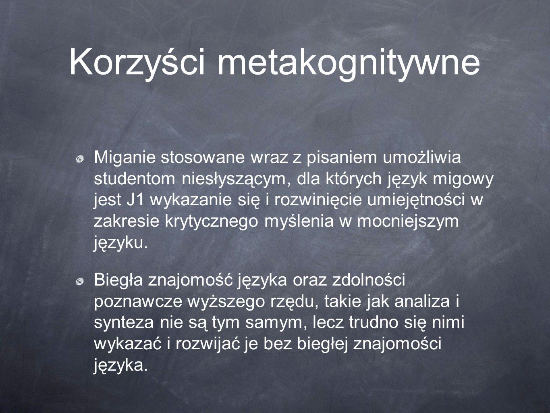 Korzyści metakognitywne