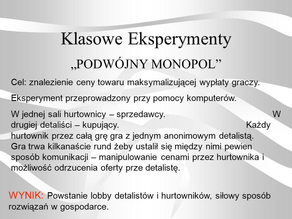 """Klasowe Eksperymenty """"PODWÓJNY MONOPOL"""