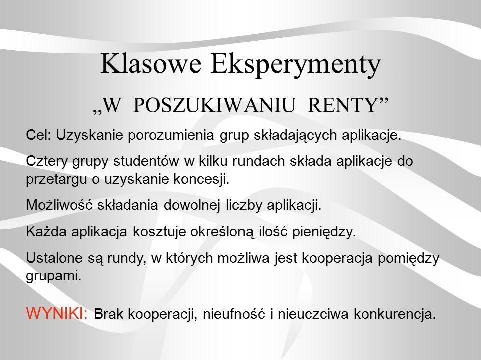 """""""W POSZUKIWANIU RENTY"""