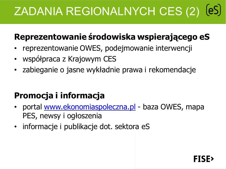 Zadania regionalnych CES (2)