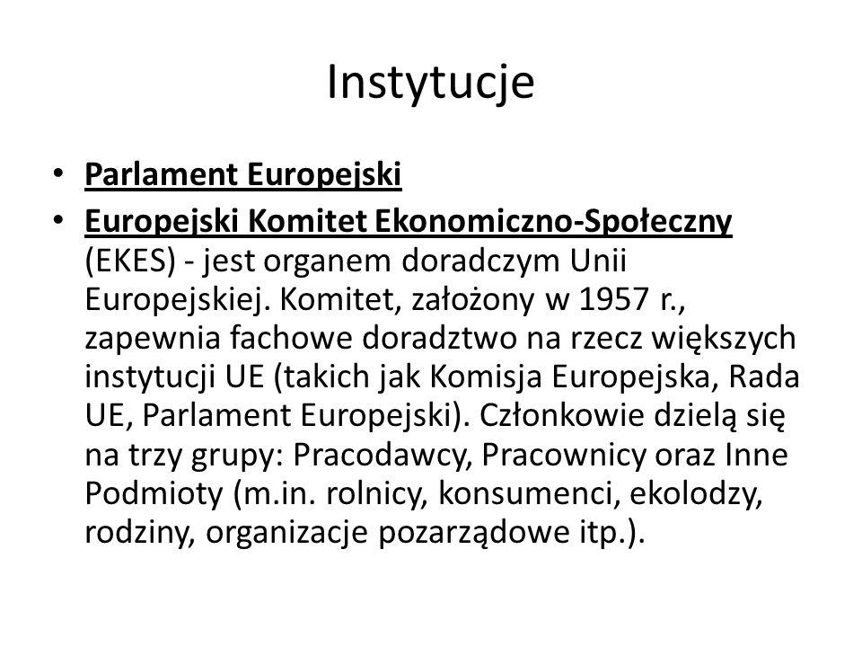 Instytucje Parlament Europejski