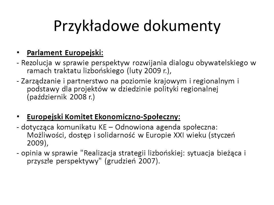Przykładowe dokumenty