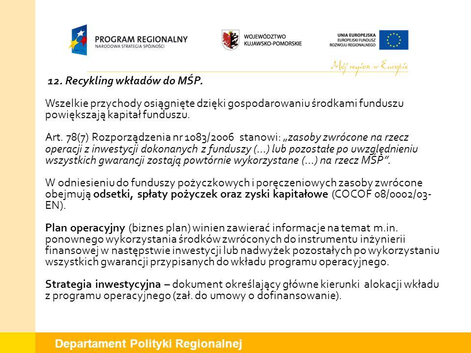 12. Recykling wkładów do MŚP.