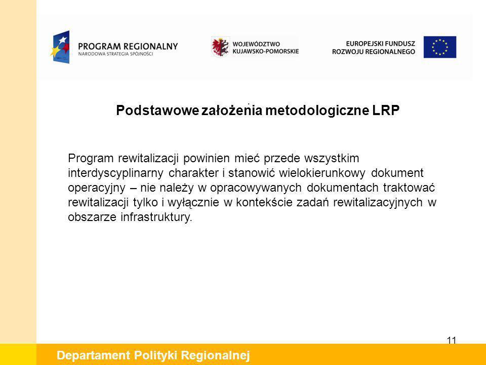 Podstawowe założenia metodologiczne LRP