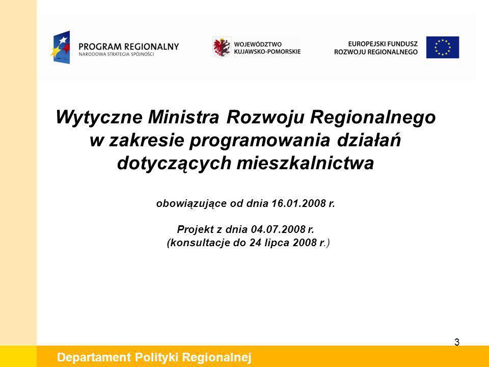 Wytyczne Ministra Rozwoju Regionalnego