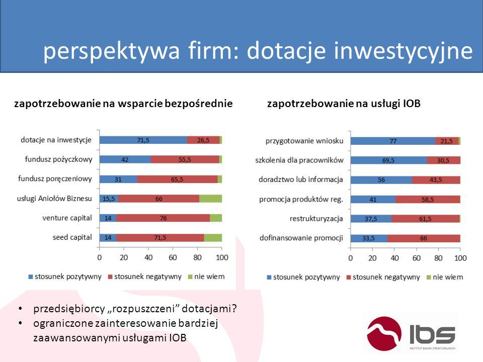 perspektywa firm: dotacje inwestycyjne