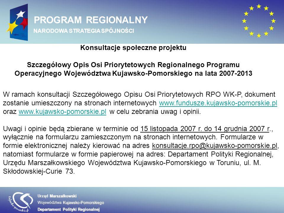 NARODOWA STRATEGIA SPÓJNOŚCI Konsultacje społeczne projektu