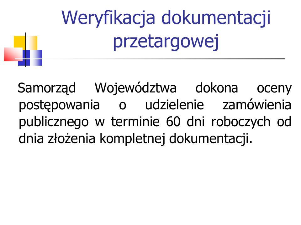 Weryfikacja dokumentacji przetargowej