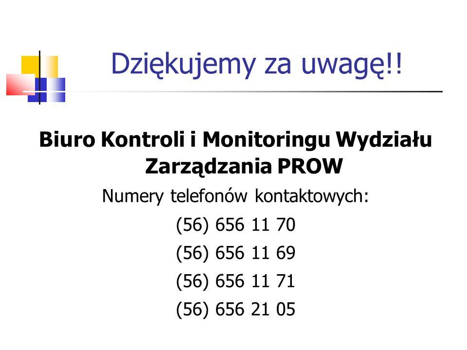 Biuro Kontroli i Monitoringu Wydziału Zarządzania PROW