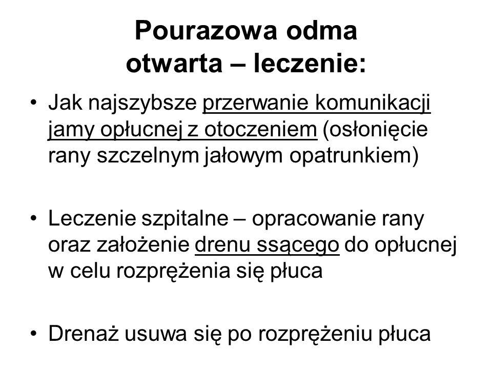 Pourazowa odma otwarta – leczenie: