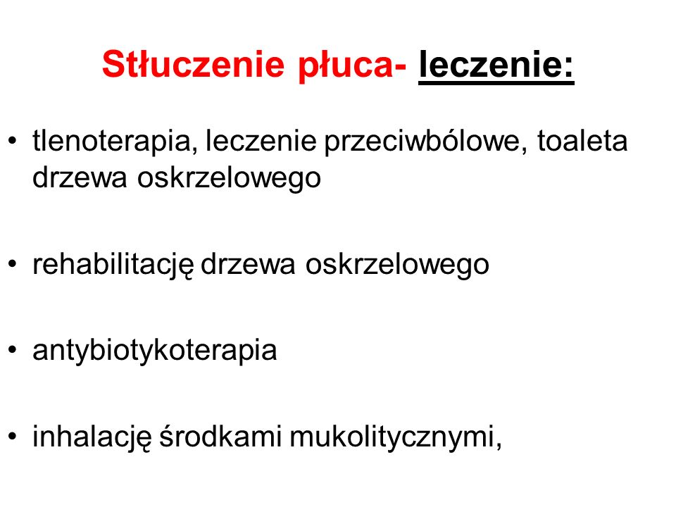 Stłuczenie płuca- leczenie: