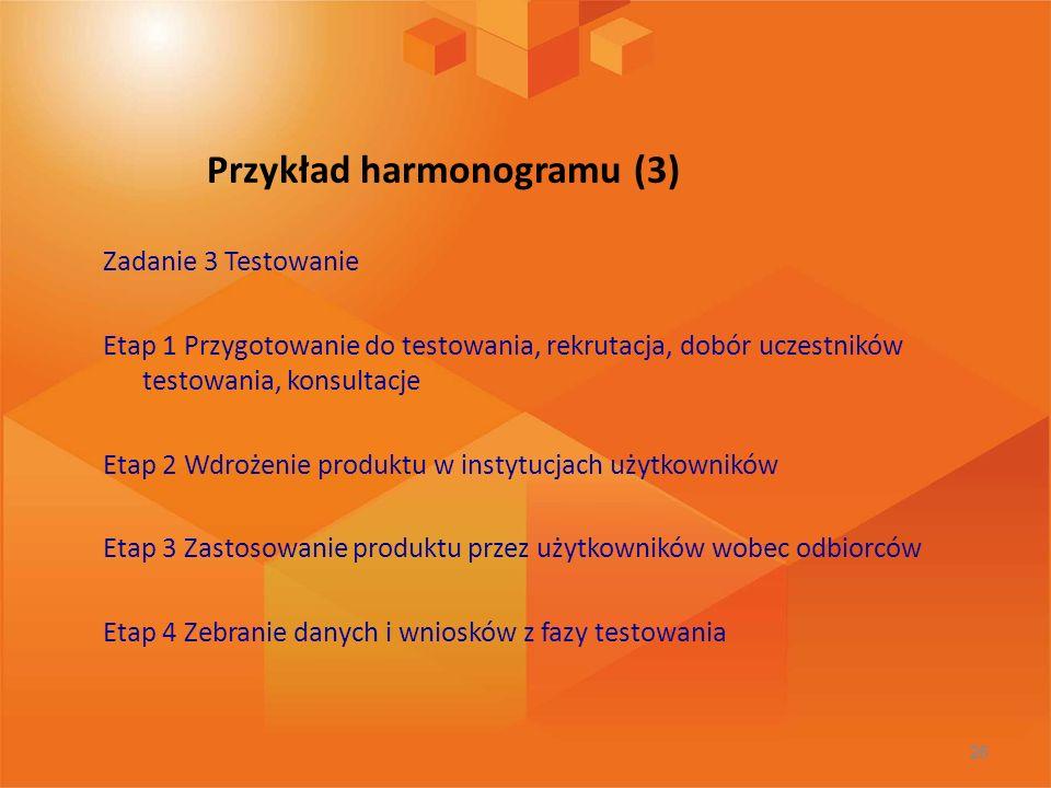 Przykład harmonogramu (3)