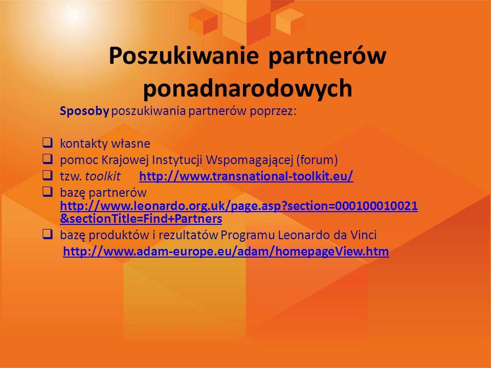 Poszukiwanie partnerów ponadnarodowych