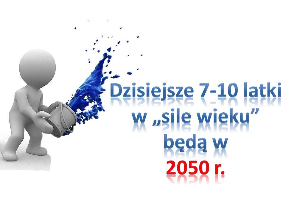 """Dzisiejsze 7-10 latki w """"sile wieku będą w 2050 r."""
