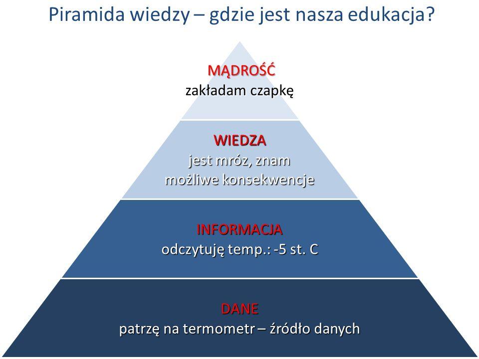 Piramida wiedzy – gdzie jest nasza edukacja