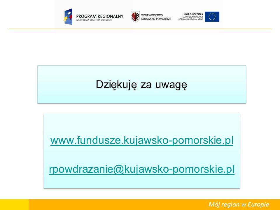 www.fundusze.kujawsko-pomorskie.pl rpowdrazanie@kujawsko-pomorskie.pl