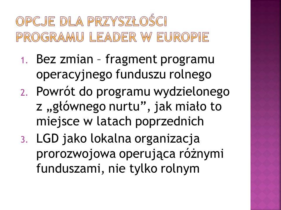 Opcje dla przyszłości Programu Leader w Europie