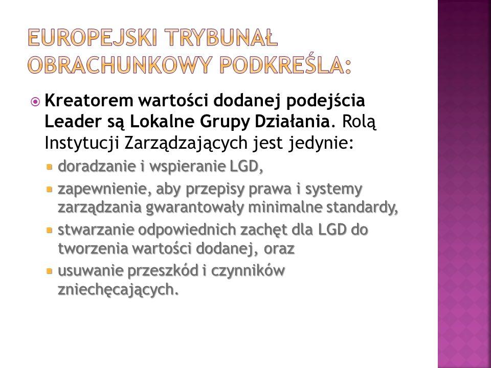 Europejski Trybunał Obrachunkowy podkreśla: