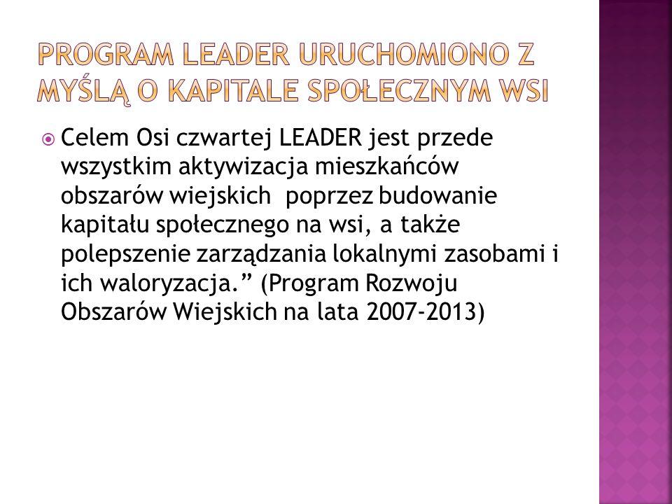 Program LEADER uruchomiono z myślą o kapitale społecznym wsi