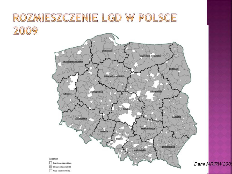 Rozmieszczenie LGD w Polsce 2009
