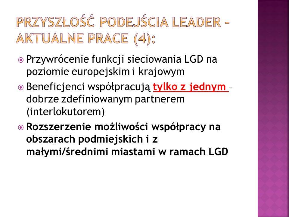 Przyszłość podejścia LEADER – aktualne prace (4):