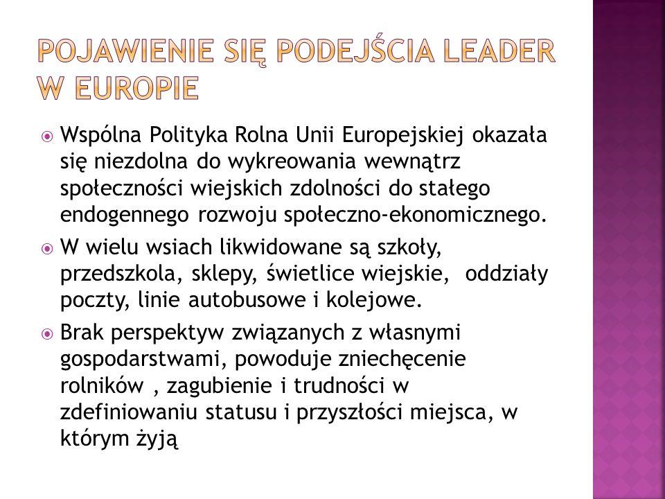 Pojawienie się podejścia LEADER w Europie