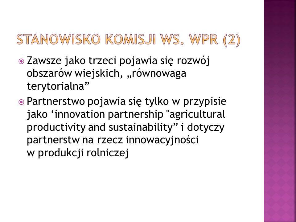 Stanowisko Komisji ws. WPR (2)