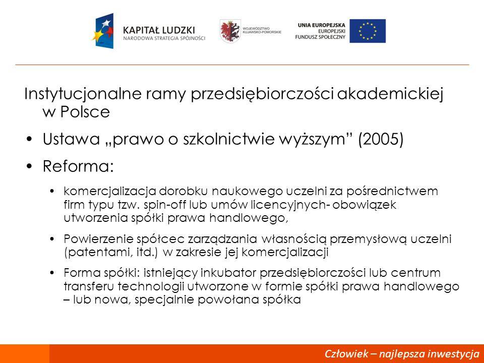 Instytucjonalne ramy przedsiębiorczości akademickiej w Polsce