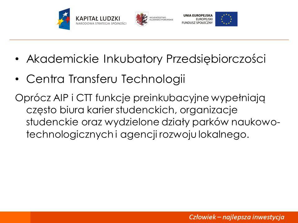 Akademickie Inkubatory Przedsiębiorczości Centra Transferu Technologii