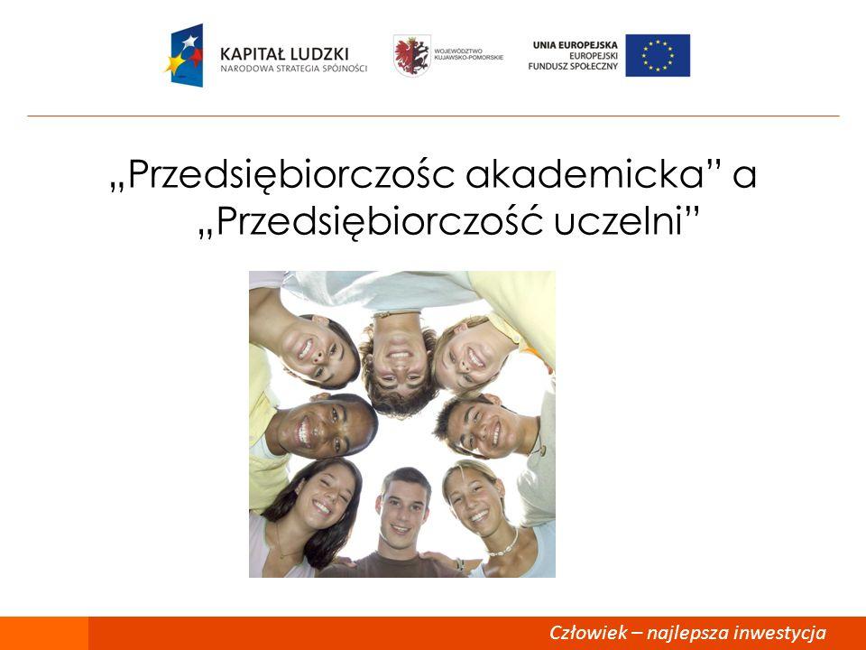 """""""Przedsiębiorczośc akademicka a """"Przedsiębiorczość uczelni"""