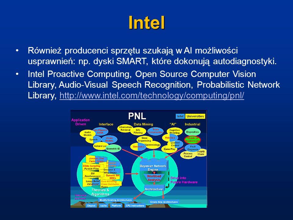Intel Również producenci sprzętu szukają w AI możliwości usprawnień: np. dyski SMART, które dokonują autodiagnostyki.