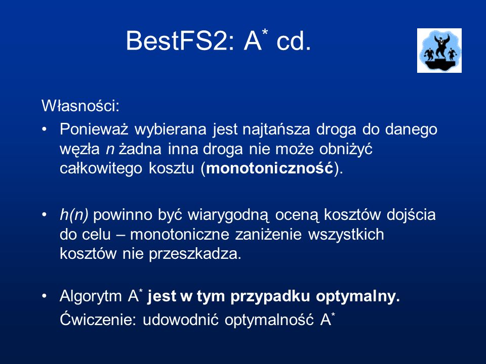 BestFS2: A* cd. Własności: