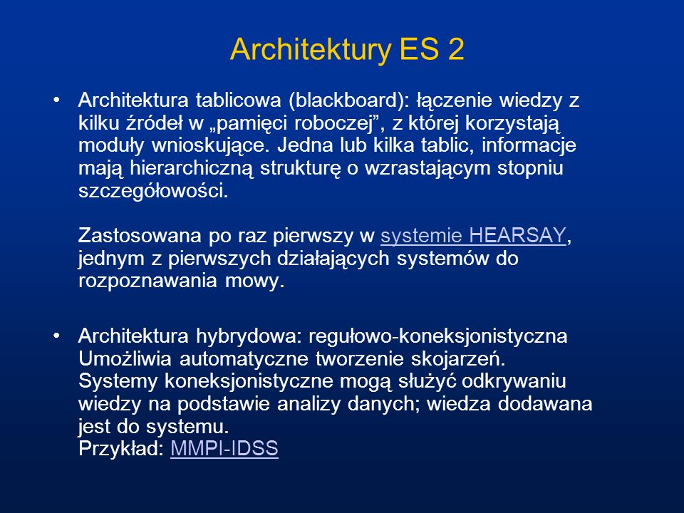 Architektury ES 2
